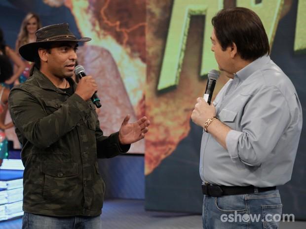 Cristian Dimitrius fala da experiência com o animal (Foto: Fábio Rocha/TV Globo)
