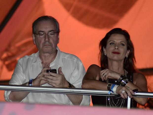 Eduardo Cunha, presidente da Câmara, e sua mulher, Cláudia Cruz (Foto: Roberto Teixeira/EGO)