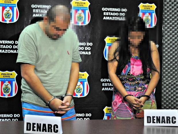 Dupla foi apresentada nesta sexta-feira (18) pela Polícia Civil  (Foto: Camila Henriques/ G1 AM)