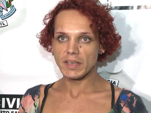 'Estou tranquilésima', diz Jhon Wener Ríco, suspeito de matar policial rodoviário federal no Espírito Santo (Foto: Reprodução/TV Gazeta)