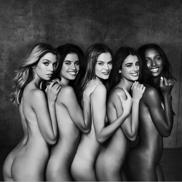 Stella Maxwell, Sara Sampaio, Kate Grigorieva, Taylor Hill and Jasmine Tookes (Foto: Reprodução do Instagram)