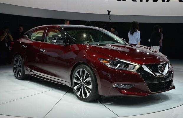 Nissan Maxima no Salão de Nova York 2015 (Foto: Newspress)