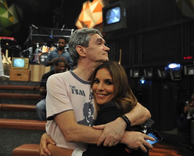 Ivete recebe o carinho de Serginho Groisman (Foto: Reinaldo Marques / Gshow)