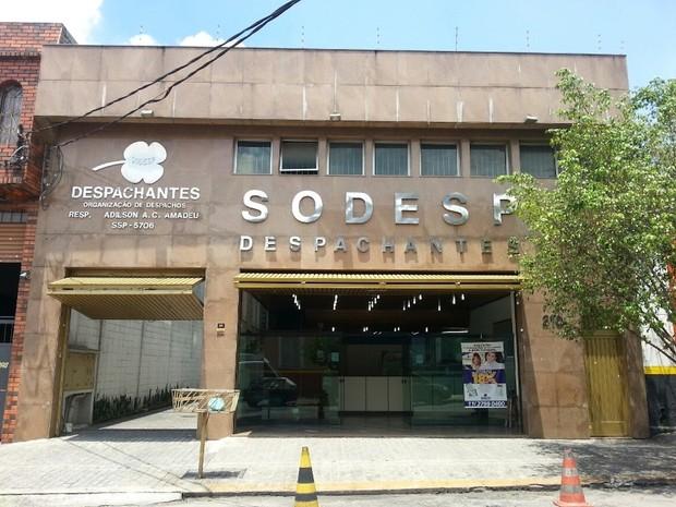 SODESP, um dos maiores despachantes de São Paulo, propriedade do vereador Adilson Amadeu (Foto: Reprodução/Facebook)