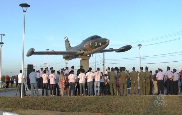 Monumento 'Avião Xavante' é inaugurado em Boa Vista (Foto: Bom Dia Amazônia)