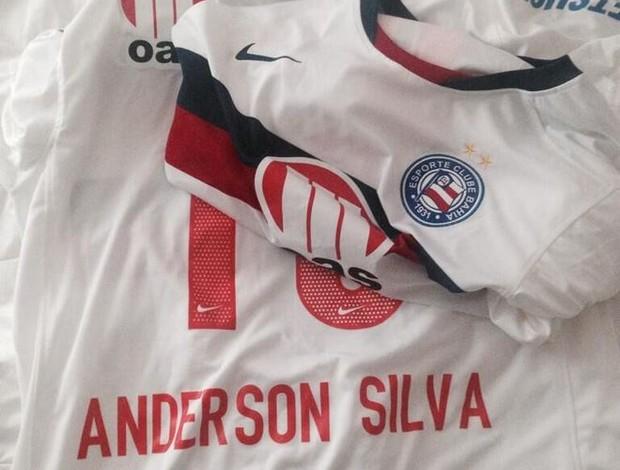 Anderson Silva camisa Bahia mma  (Foto: Reprodução/Twitter)
