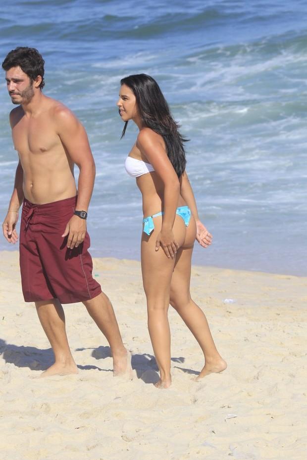 Thiago Rodrigues e Mariana Rios em gravação de Além do Horizonte (Foto: Delson Silva / AgNews)