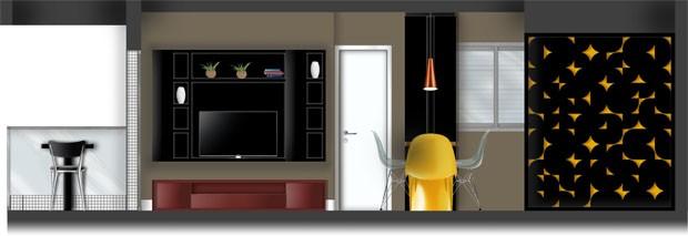 Apartamento pequeno inpirado na Pop Art (Foto: Edgard Cesar / divulga)