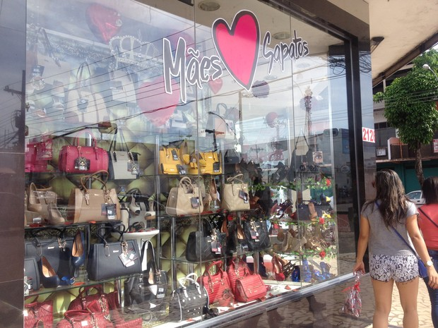 comércio, dia das mães, fraco, vendas, presentes, consumidores (Foto: Jéssica Alves/G1)