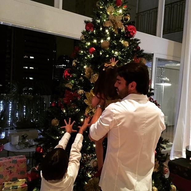 Kaká e Luca (Foto: Reprodução do Instagram)