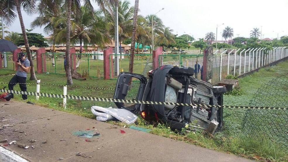 Ciclista atropelado morreu no local do acidente no Bairro Aruana (Foto: CPTran, Divulgação)
