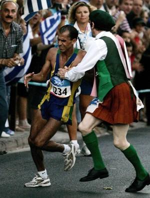 atletismo maratona vandelei cordeiro de lima medalha de bronze atenas 2004 (Foto: Agência Globo)