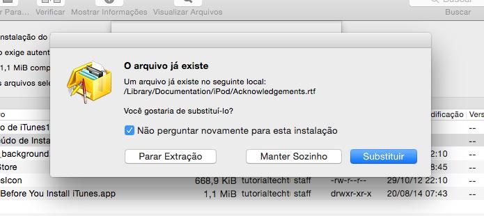 Substitua todos os arquivos existentes (Foto: Reprodução/Helito Bijora)