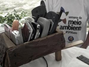 Semana do Meio Ambiente de 2011 também fez ação de coleta de lixo eletrônico (Foto: Caroline Marques/TV Cabo Branco)