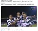 """Rivaldinho dedica gol frente Palmeiras a Rivaldo, e pai agradece: """"Amo você"""""""