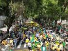 Em Belém, manifestantes fazem caminhada em apoio à Lava Jato
