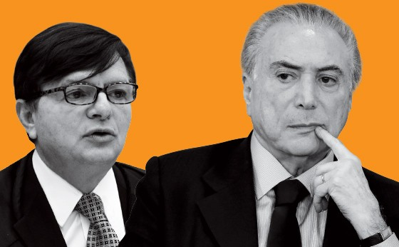 O ministro do TSE Herman Benjamim e o presidente Michel Temer (Foto: Pedro Ladeira/Folhapress e Agência Senado)