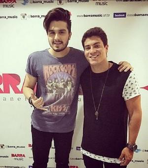 Arthur Aguiar e Luan Santana  (Foto: Arquivo Pessoal)
