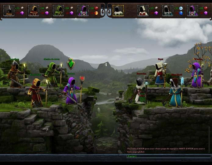 """As partidas de """"Guerra dos Magos"""" colocarão em combate direto duas equipes de quatro jogadores com nível de experiência equilibrado (Foto: Reprodução/Daniel Ribeiro)"""