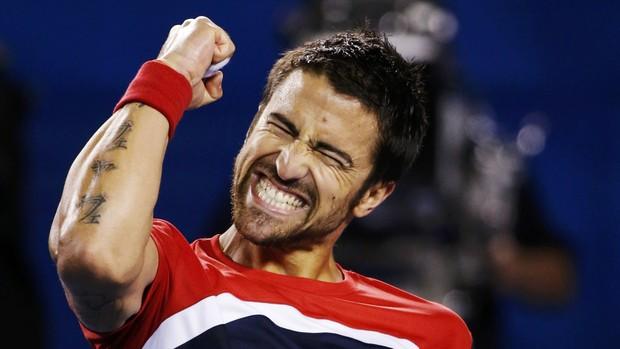 Tipsarevic Aberto da Austrália tênis (Foto: Reuters)
