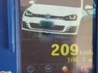 Motorista é flagrado a 209 km/h na BR-290 e afirma que 'se descuidou'