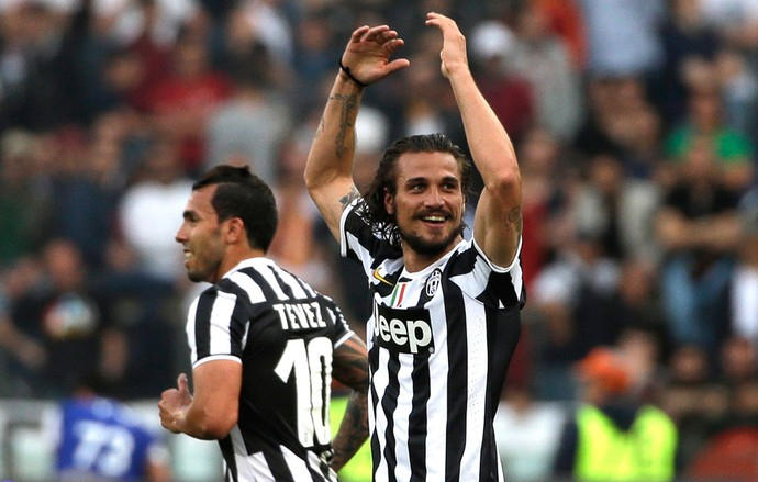 Osvaldo comemora, Roma x Juventus (Foto: AP)