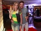Fani assiste com namorado ao jogo Brasil X Camarões em festa no Rio