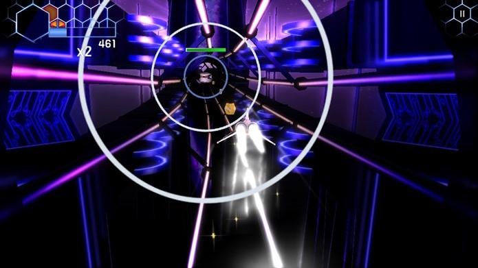 Game de nave com músicas e cenários alucinantes (Foto: Divulgação)