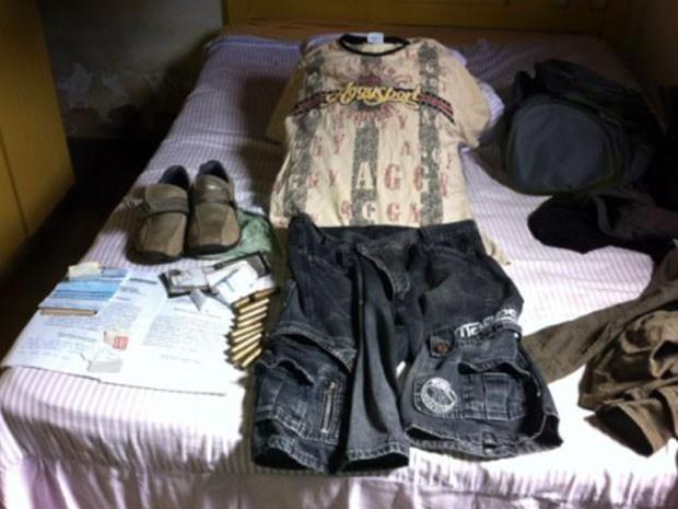 Roupas usadas por Lucas Daniel no dia do crime também foram apreendidas pela polícia (Foto: Polícia Civil/Divulgação)