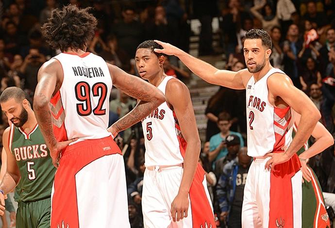 bruno caboclo, Milwaukee Bucks x Toronto Raptors NBA (Foto: Reprodução / NBA)