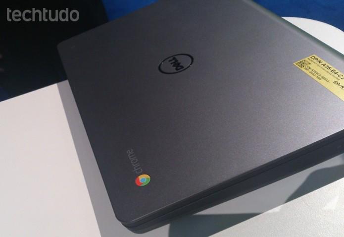 Dell apresenta Chromebook de 11 polegadas e configuração enxuta na Dell World 2013 (Foto: Fabrício Vitorino/TechTudo)
