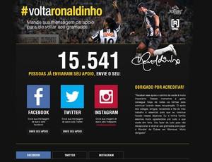 Ronaldinho site (Foto: Reprodução )