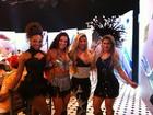 Carla Prata grava programa de carnaval com ex-BBB Vanessa