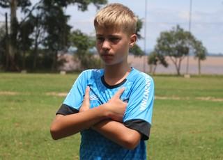 Ronald Falkoski time sub-12 Grêmio (Foto: Eduardo Moura/Globoesporte.com)