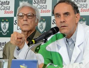 coletiva Centro Medico america, Afonso Celso Raso e Cimar Eustáquio (Foto: Roberto Rodrigues)