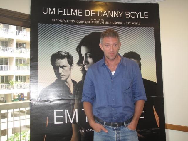 Vincent Cassel divulga o filme 'Em Transe' (Foto: Isabela Marinho/ G1)