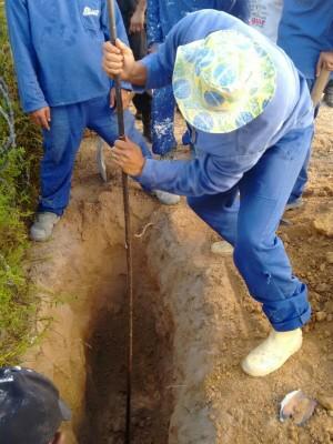 Túnel foi encontrado na tarde desta segunda-feira (21) (Foto: Grupo de Operações Especiais)