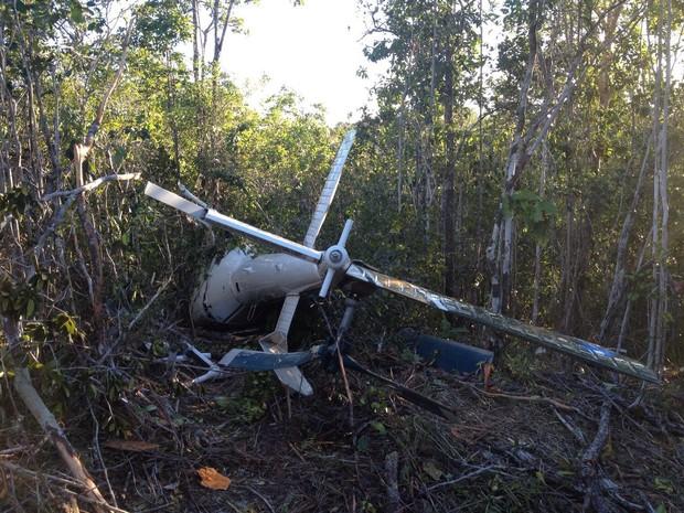 Queda da aeronave ocorreu na tarde desta segunda-feira (21) (Foto: Henrique Mendes/G1 Bahia)