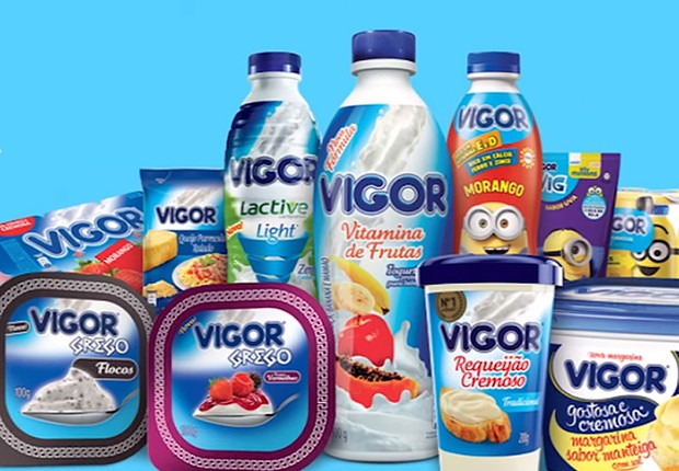Linha de produtos da Vigor : empresa pertence à holding J&F (Foto: Reprodução/Facebook)
