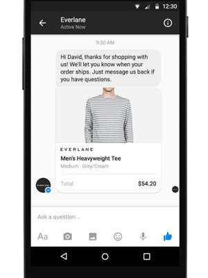 Messenger, app de mensagens do Facebook, permitirá comprar, vender e acompanhar pedidos sem sair do programa.  (Foto: Divulgação/Facebook)