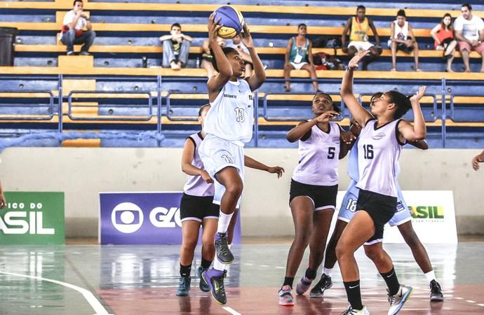 Final do basquete feminino dos Jogos Escolares da Juventude aconteceu no Ginásio do Unipê, em João Pessoa (Foto: Wander Roberto/Inovafoto/COB)