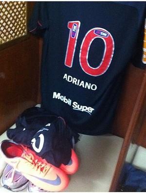 Uniforme Adriano flamengo (Foto: Reprodução Twitter)