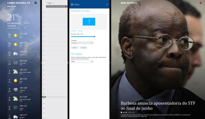 Clique sobre a borda e arraste para redimensionar os apps (Foto: Reprodução/Helito Bijora)