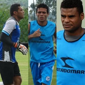 Rudison, Etinho e Dida Porto-PE (Foto: André Ráguine / GloboEsporte.com)