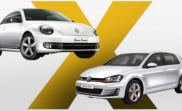 Volkswagen Fusca vs Volkswagen Golf GTI_Qual Comprar (Foto: Autoesporte)