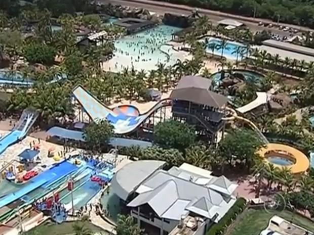 Parque aquático é um dos mais visitados do país (Foto: Reprodução/ TV TEM)