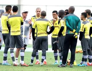 Oswaldo de oliveira conversa com o time do botafogo  (Foto: Ricardo Sodré / SSPress)