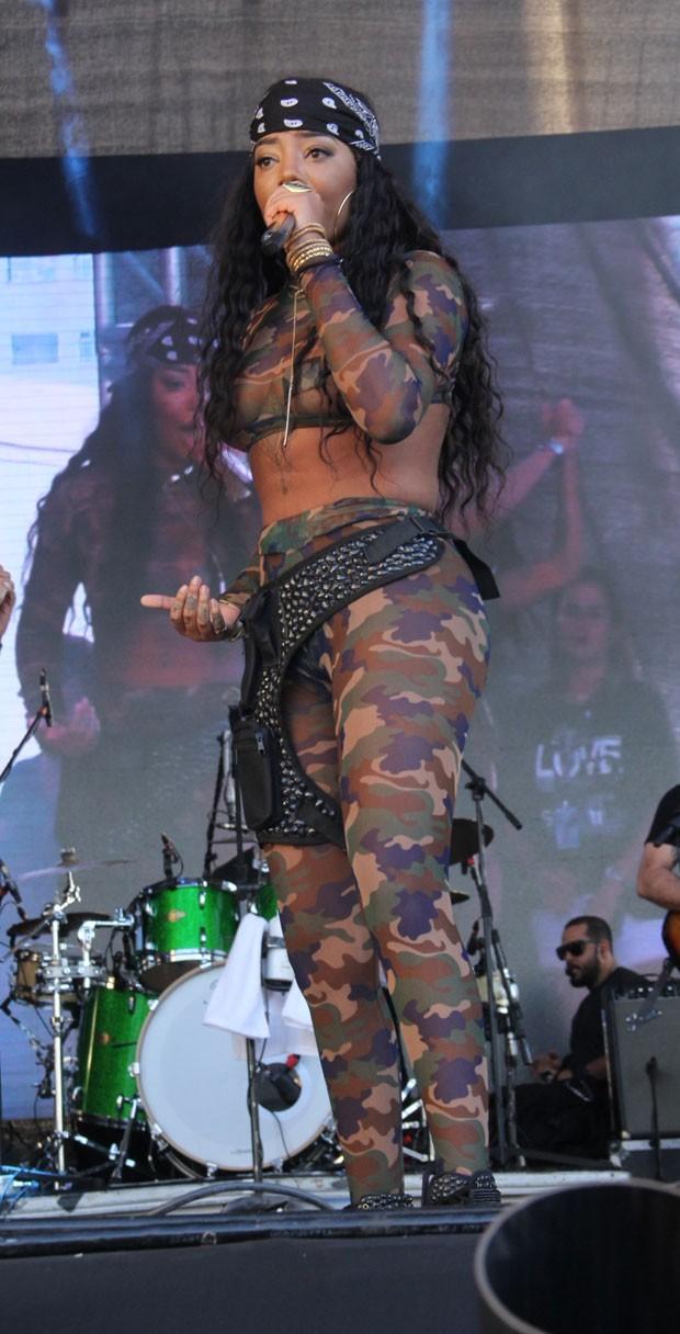 Ludmilla durante o evento (Foto: AgNews / Wallace Barbosa)