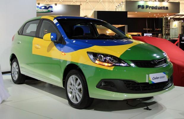 Chery Celer no Salão do Automóvel (Foto: Autoesporte)
