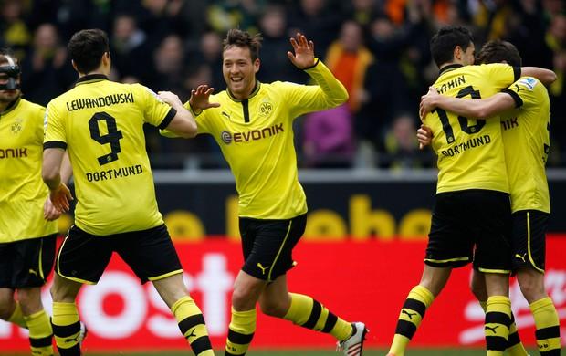 Julian Schieber gol do Borussia Dortmund (Foto: Reuters)